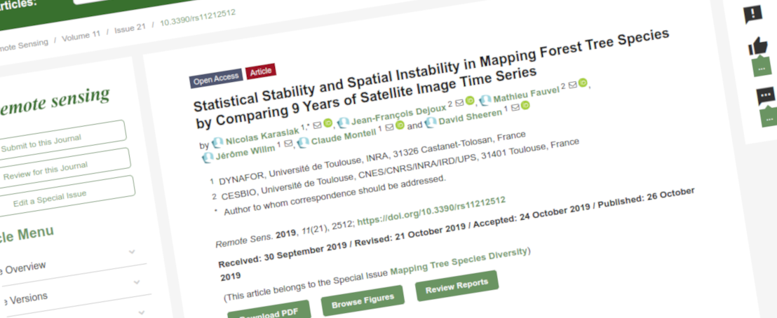 Spatial and temporal accuracy of tree species mapping with Satellite Image Time Series